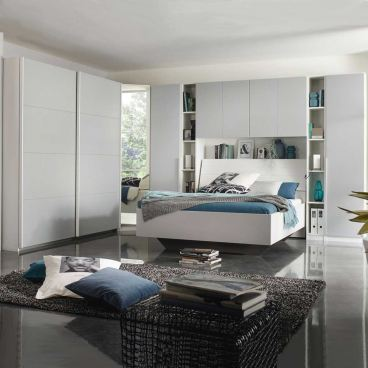 rauch packs memphis schlafzimmer bettanlage und eckschrank kombination. Black Bedroom Furniture Sets. Home Design Ideas