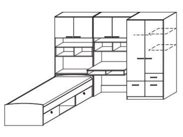 rauch pack s kinderzimmer cody mit bettkastern bett dreht renschrank. Black Bedroom Furniture Sets. Home Design Ideas