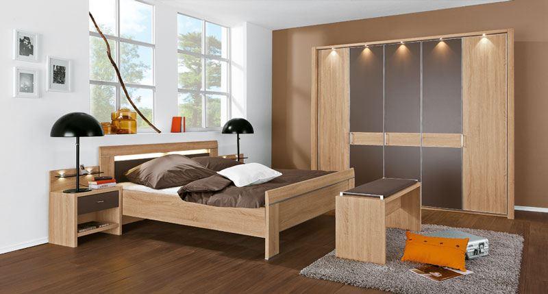donna wiemann schlafzimmer komplett in eiche s gerau nachbildung. Black Bedroom Furniture Sets. Home Design Ideas