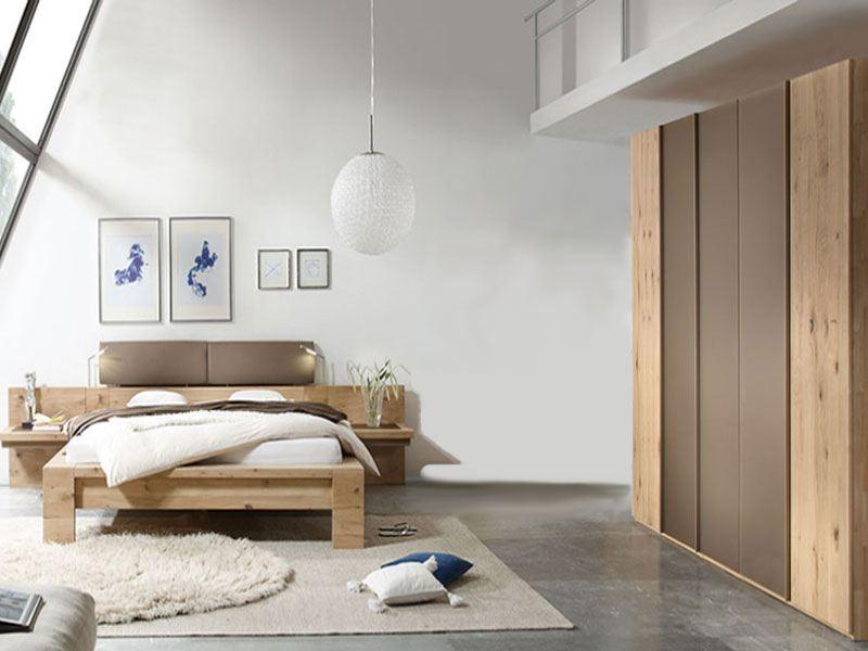 Thielemeyer Isola Schlafzimmer Front und Korpus Wildeiche Massivholz