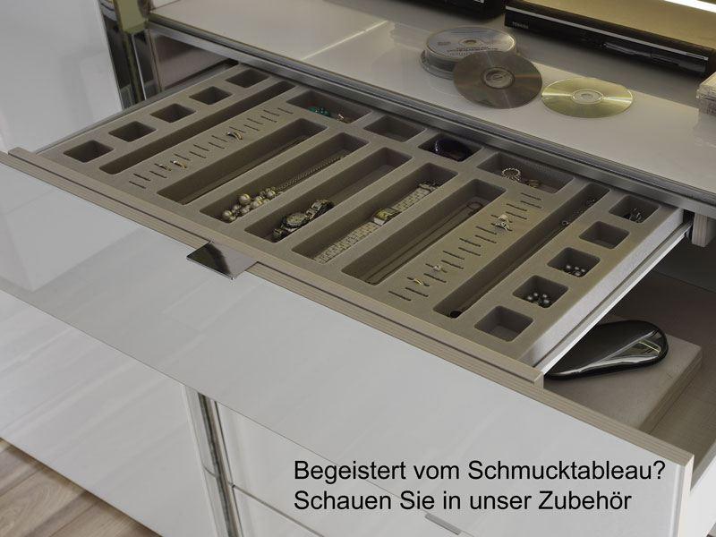 Staud Media Schwebetürenschrank Spiegel/Glasfront mit 3er ...