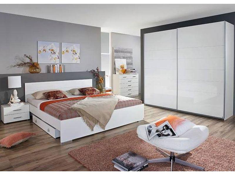 Rauch Packs Lorca Schlafzimmer Schwebetürenschrank Bett, Nachttische