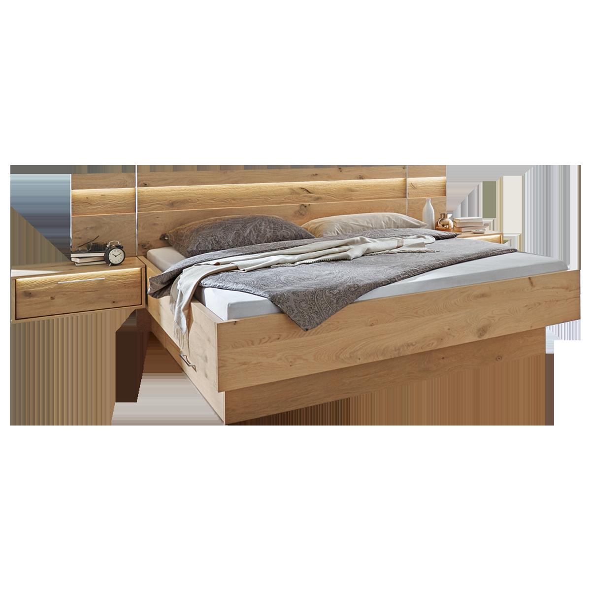 Disselkamp Cadiz Schlafzimmer Doppelbett mit hängenden Nachtkonsolen
