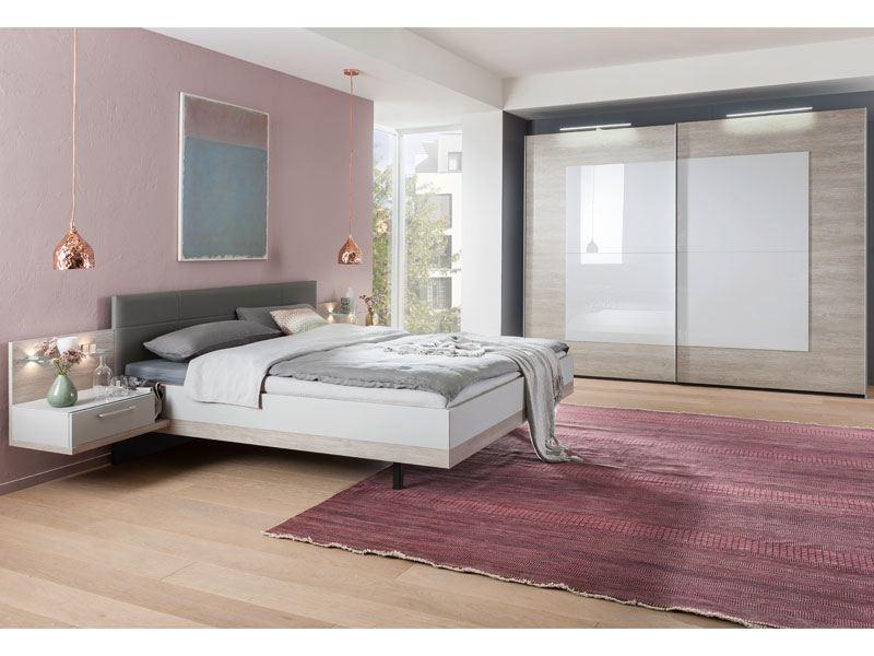 Nolte Möbel Novara Schlafzimmer 4-teilig in Platin-Eiche-Nachbildung