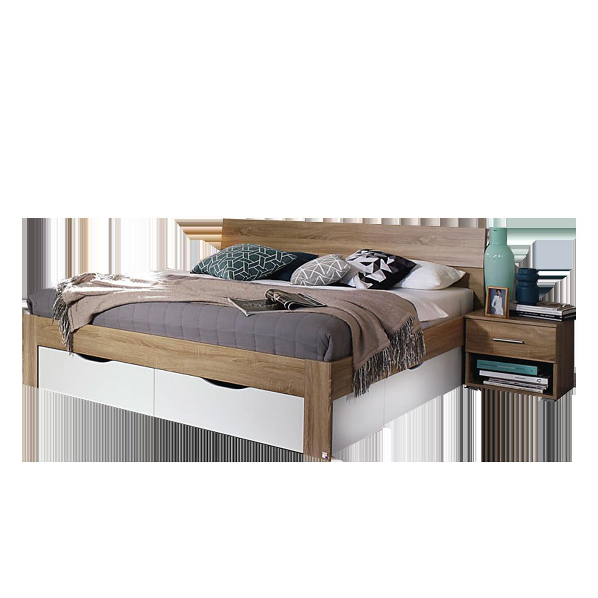 Rauch Packs Flexx Bett Inklusive Sockelschubkasten Liegeflache Und Farbasufuhrung Wahlbar Optional Mit Nachttisch