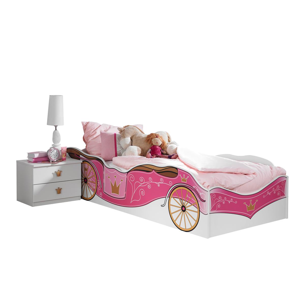Rauch Packs Kate Bett Und Nachttisch In Alpinweiss Mit Absetzung Printdekor Prinzessin