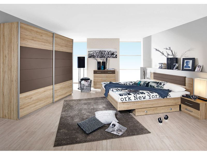 Barcelona Schlafzimmer In Dekor Druck Eiche Sanremo Hell
