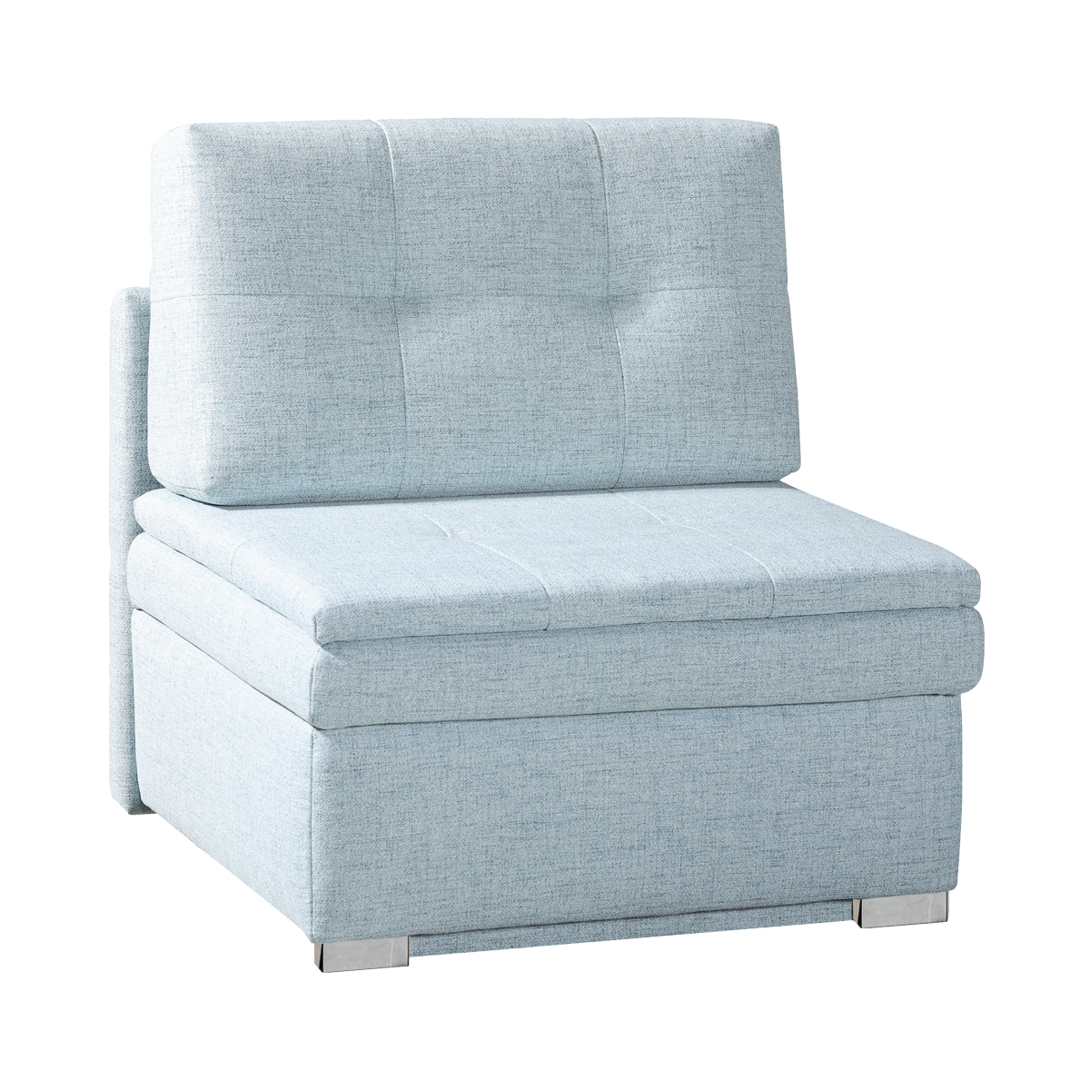 Restyl Schlafsessel Kira mit einer praktischen Schlaffunktion und einem  geräumigen Bettkasten in einem ansprechenden Webstoff aus 100% Polyester ...