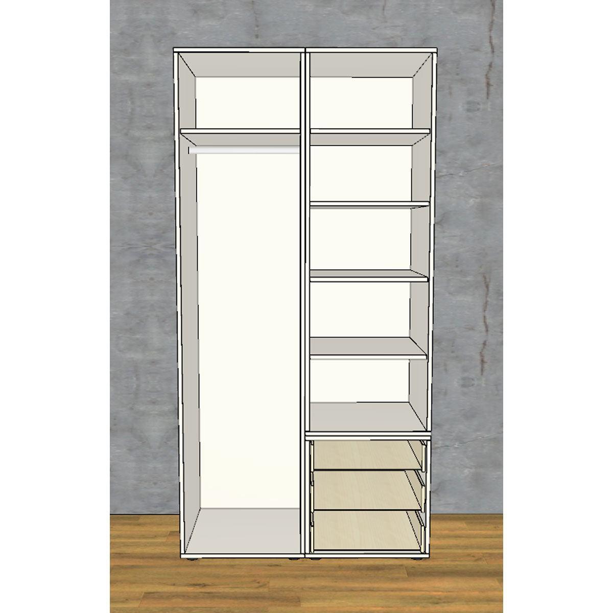 rudolf m bel fiftytwo kleiderschrank guenstiger kaufen bei. Black Bedroom Furniture Sets. Home Design Ideas