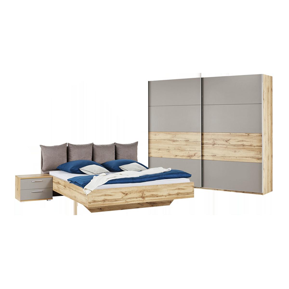 Schlafkontor Deltas Schlafzimmer Set 3-teilig Front Basaltgrau