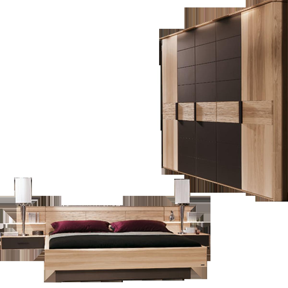 Thielemeyer Mira Schlafzimmer Strukturesche mit Colorglas dunkelbraun