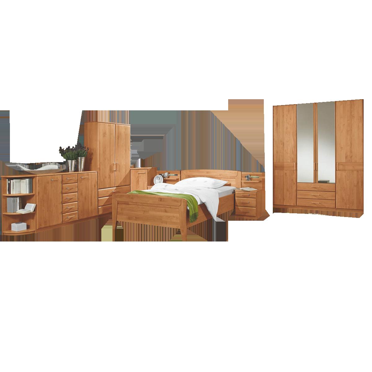 Wiemann Lausanne 18-teiliges Schlafzimmer teilmassiv Farbe wählbar