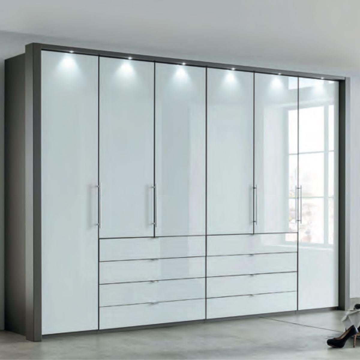 Wiemann Loft Dreh-Gleittüren-Panorama-Funktionsschrank 11 cm breit