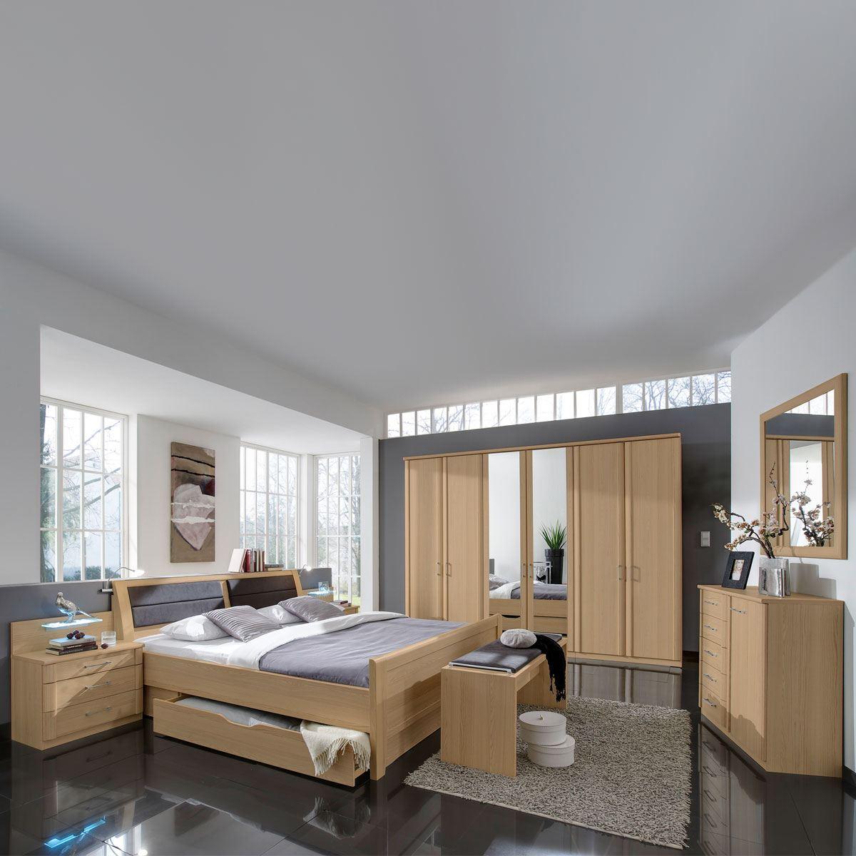 Wiemann Luxor 3 4 Schlafzimmer Doppelbett Bettkasten Drehturenschrank