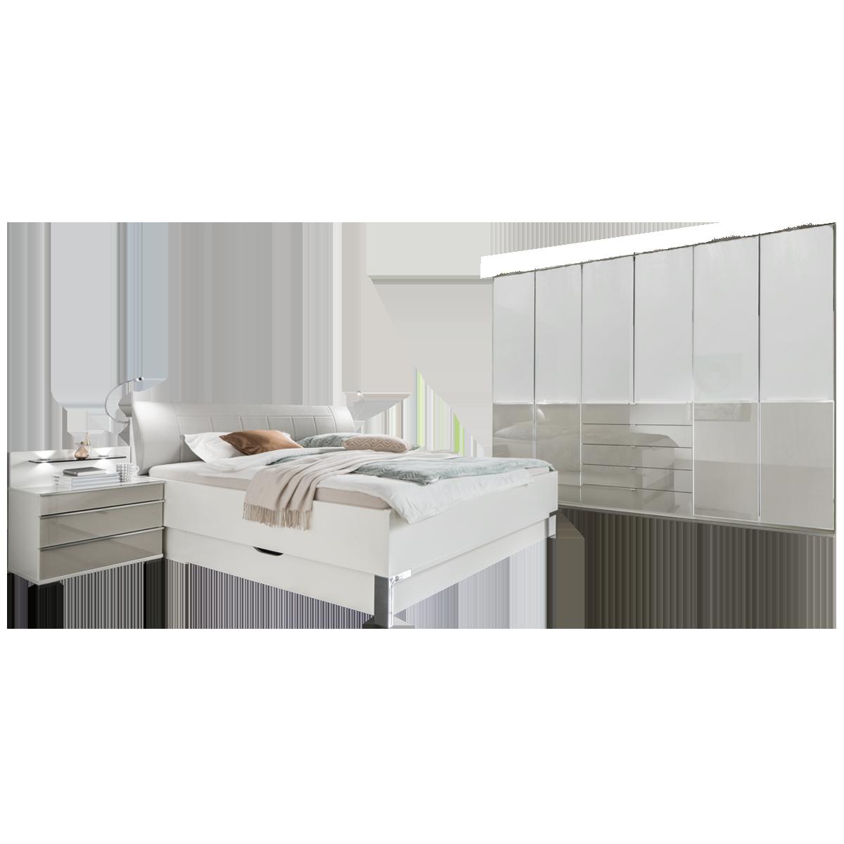 Wiemann Shanghai 2 V I P Schlafzimmer Mit Bett Schrank Nachtschranke