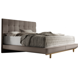 nolte sonyo bett doppelbett schwebe optik mit holz r ckenlehne g nstig kaufen. Black Bedroom Furniture Sets. Home Design Ideas