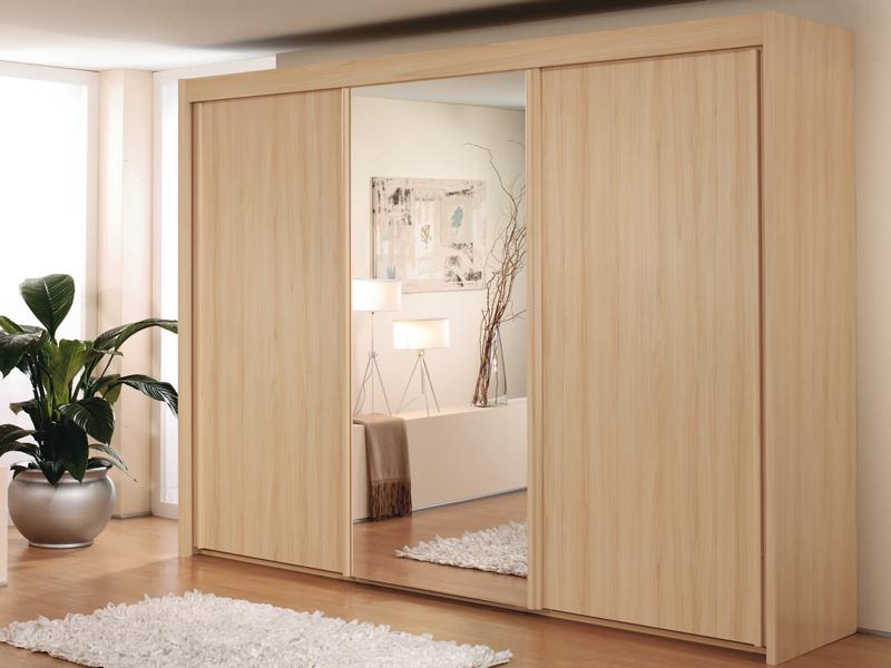 sch ner schrank moderner schwebet renschrank kleiderschrank neu top. Black Bedroom Furniture Sets. Home Design Ideas