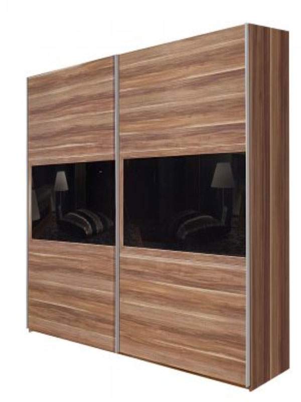 arte m trio kleiderschrank mit schiebet r g nstig online. Black Bedroom Furniture Sets. Home Design Ideas